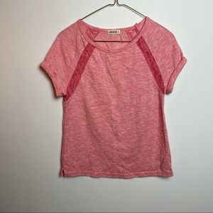 ARDENE SHORT SLEEVE PINK TOP SIZE SMALL